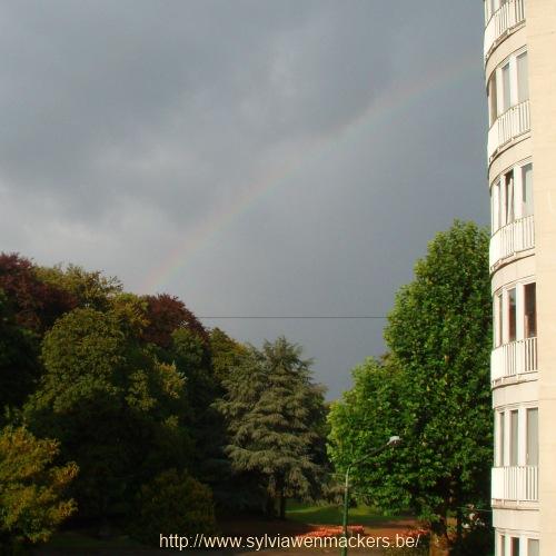 Regenboog in augustus.