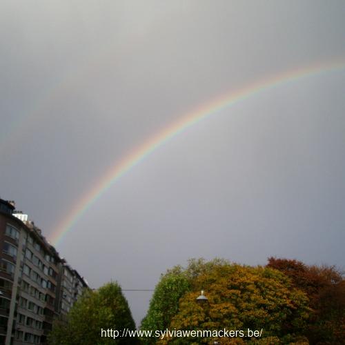 Regenboog in november.