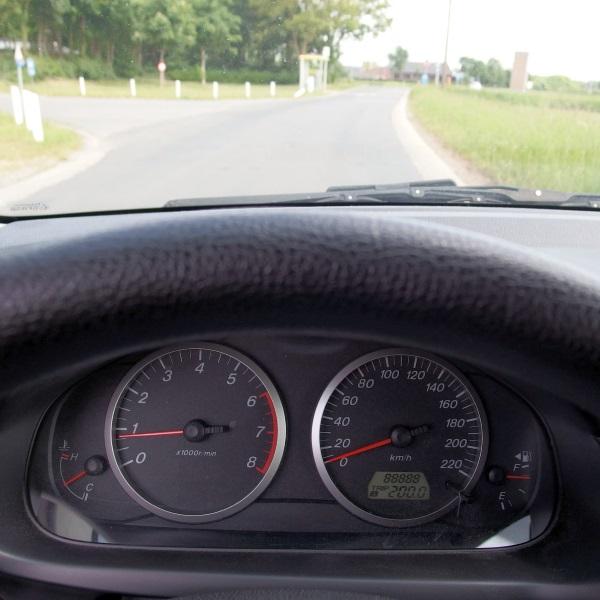Afstand afgelegd met mijn autootje: 88888 km.