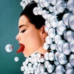 Björk proeft van Kerstmis.