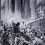 Brand bibliotheek Alexandrië.