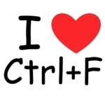 Zoeken binnen een browservenster of document doe je met Ctrl + F.