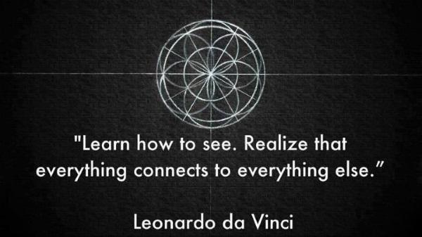 Citaat toegeschreven aan da Vinci.