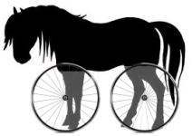 Halverwege het paard-fiets continuüm kom je vreemde dingen tegen.
