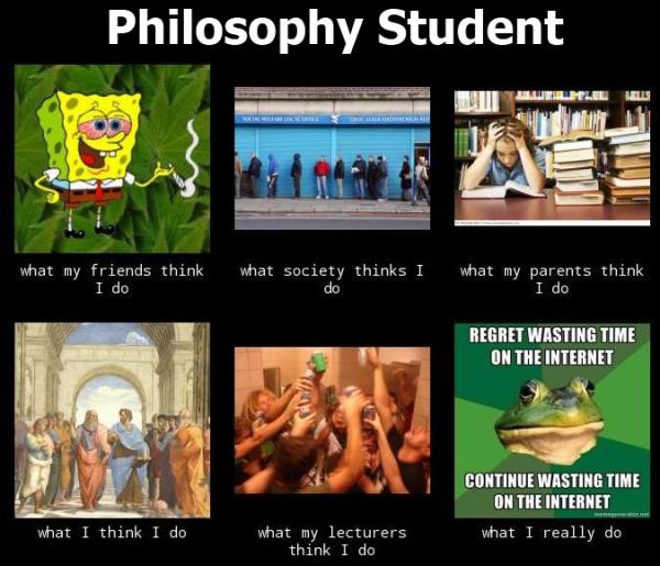 Feit: Filosofiestudenten zitten niet altijd op café (maar wel vaak).