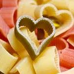 Hartvormige pasta.