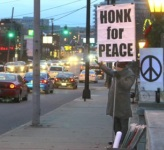 Toeter voor vrede.