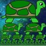 Oneindige regressie met schildpadden.