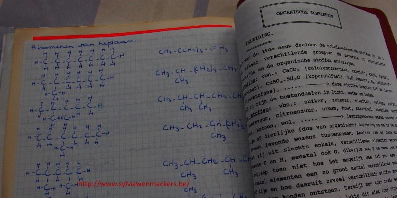 Cursus chemie vierde middelbaar.