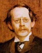 Portret van J.J. Thomson, de ontdekker van het elektron.