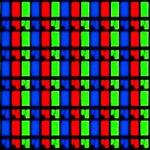 Pixels in een LCD-scherm. (Bron: http://commons.wikimedia.org/wiki/File:LCD_pixels_RGB.jpg)