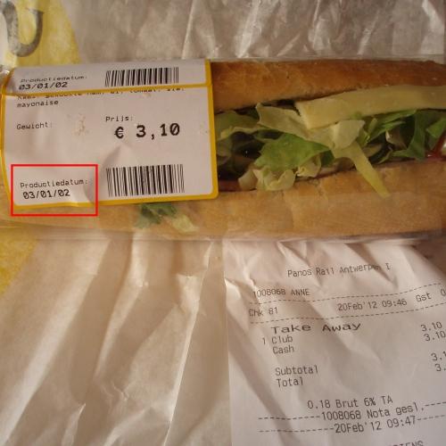 Dit was mijn lunch.