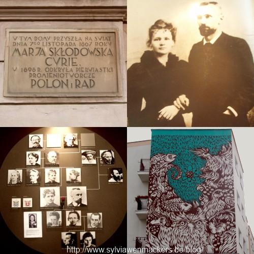 Herinneringen aan Maria Sklodowska Curie in Warschau.