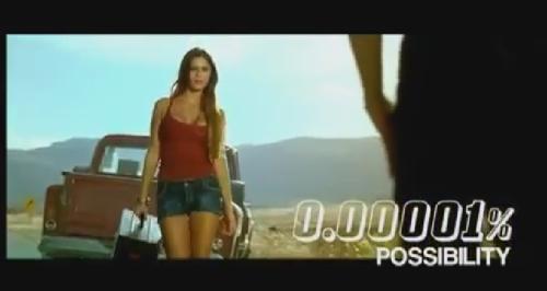 Een beeld uit de nieuwe reclamespot voor Coca Cola Zero.