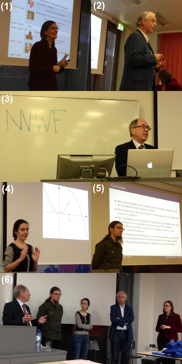Zes foto's van het symposium.