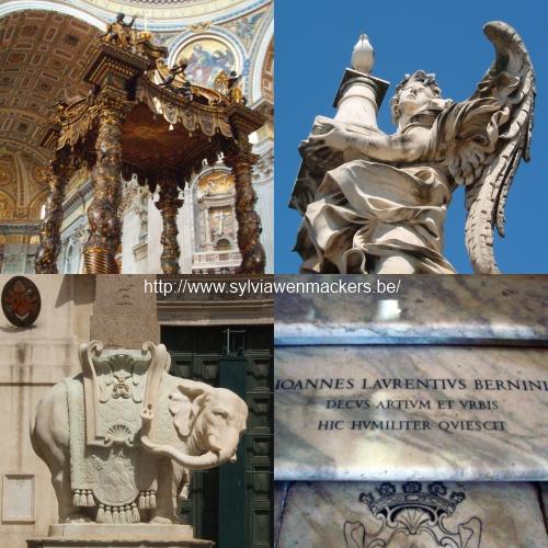 Beeldhouwwerken van Bernini in Rome.