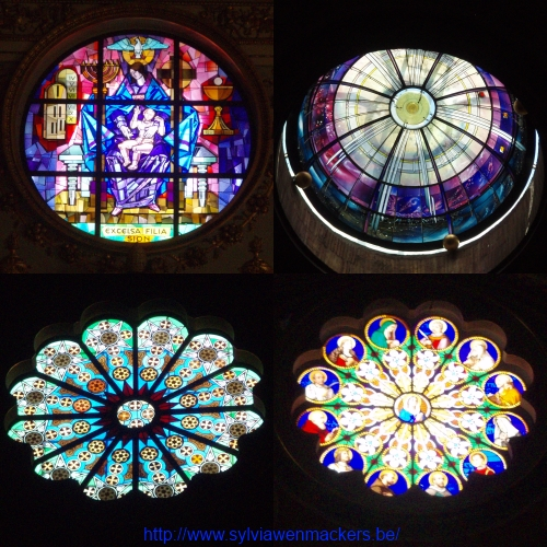 Glasramen in Romeinse kerken.