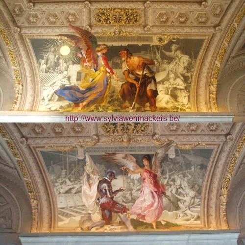 Sprookjesachtige schilderijen in Rome.