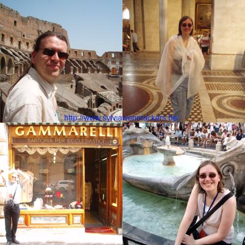 Toeristen in Rome.