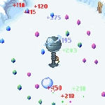 Een magneettoren uit Snowball waarmee je ballen rondjes kunt laten draaien of wegslingeren.