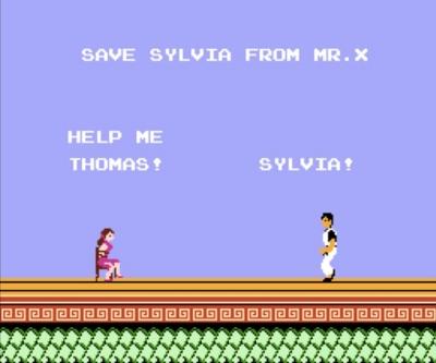 Sylvia in distress.