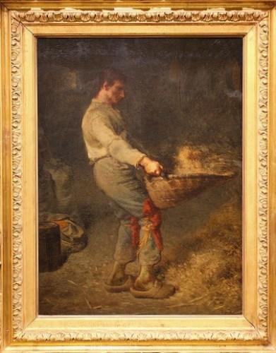 Le vanneur van Jean-Francois Millet (rond 1848).