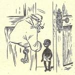 Zwarte Piet aan de hemelpoort (1957).